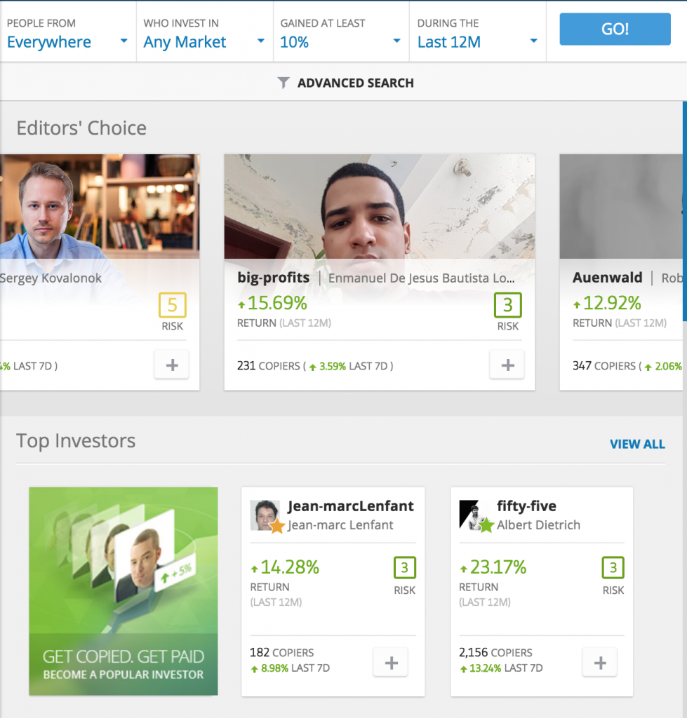 eToro Screenshot